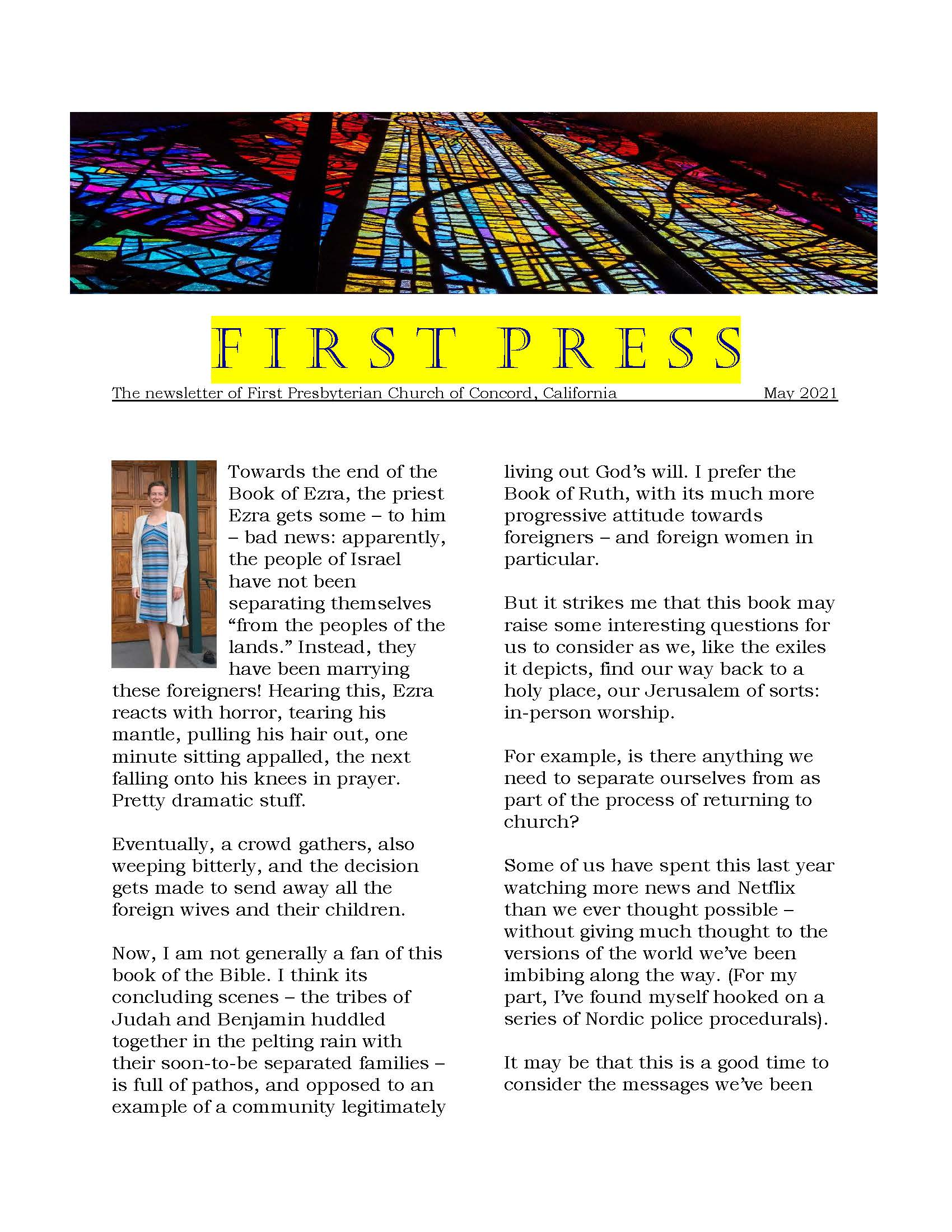 first page of May 2021 first press