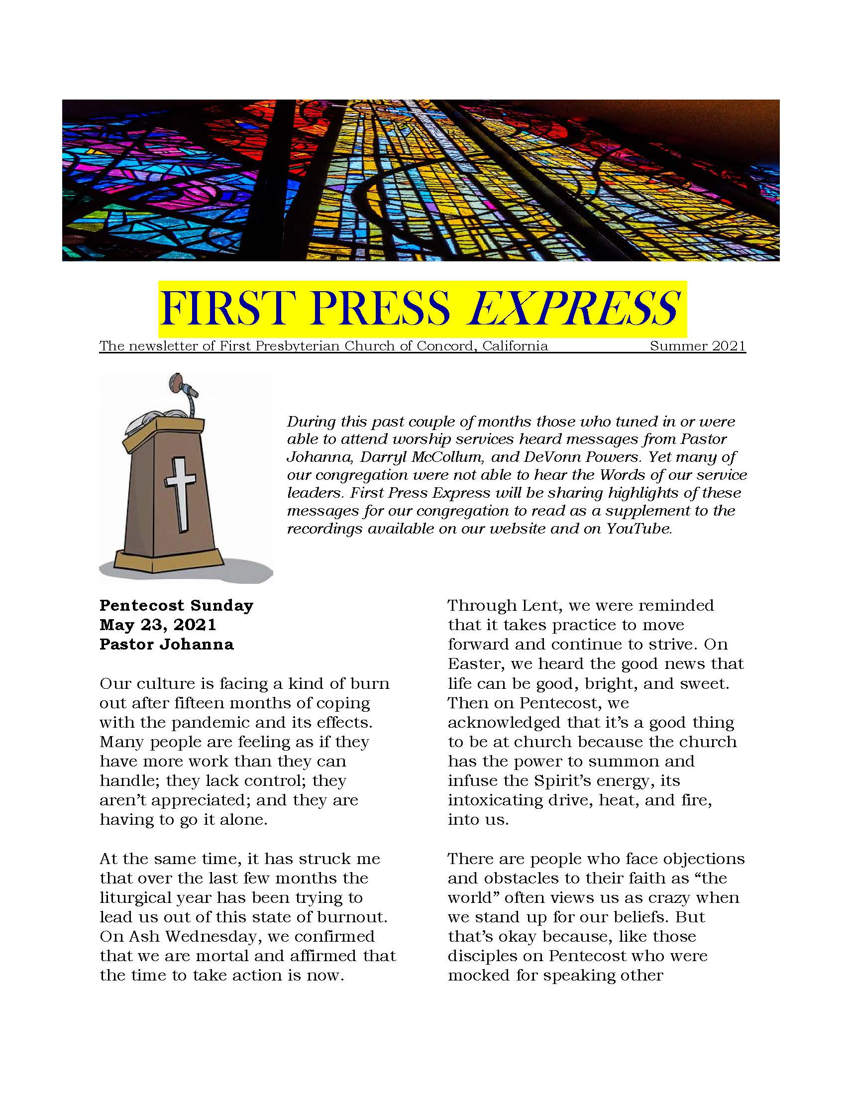 cover of First Press Express Summer 2021